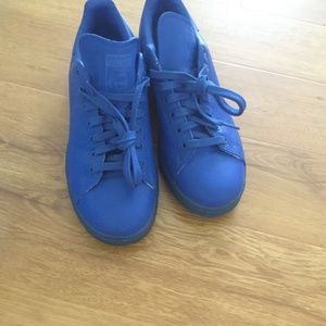 Adidas stan smith , blue leather size 10